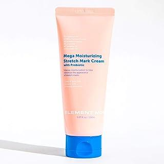 Element Mom Mega Moisturizing Stretch Mark Cream with Probiotic, 150 ml / 5.07 fl oz | 5 Types of Hyaluronic Acid | Pregna...