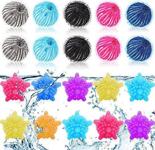 Tierhaarentferner Waschmaschine, 10 Stück Waschkugeln 10 Stück Fusselbälle Waschkugel Flusenentferner Waschkugeln Wiederverwendbare Trocknerkugeln Waschmaschine von Hunden und Katzen (Einfarbig)