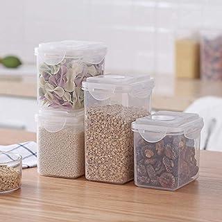 Pkfinrd 4pcs Plastique Aliments Stockage boîte de Rangement de céréales céréales céréales réservoir de Stockage triting or...