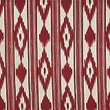 Kt KILOtela Tela de loneta Estampada - Retal de 300 cm Largo x 280 cm Ancho | Lenguas Mallorquinas - Rojo ─ 3 Metros