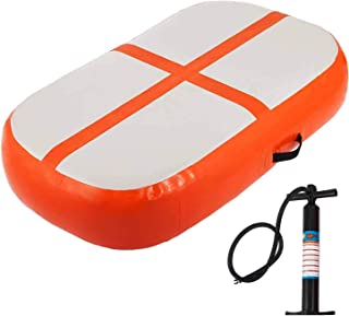 Happybuy Air Track Block 8 inches Small Air Track Inflatable AirTrack Tumbling Mat for Gymnastics Martial Arts Cheerleading Tumble Track with Pump Orange 3.3ft 24x8in