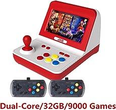 New JXD Classic Nostalgia Big Rocker Retro Mini Arcade Console Dual-core 32GB Build in 9000 Games Arcade neogeo/cp1/cp2/gbc/gb/sens/nes/smd mp3 mp4 (Black)