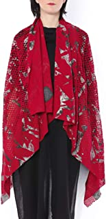 ミハイル ギニス アオヤマ MICHAIL GKINIS AOYAMA 着る ART ストール [登録意匠] 日本製 ハイテク ニット MADE IN TOKYO ギリシャ 大判 コットン Cotton RED SILVER レッド シルバー