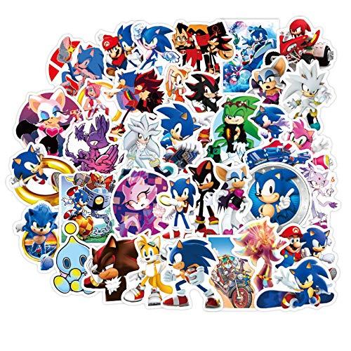 Sonic - Adhesivo para maleta de equipaje (50 unidades)