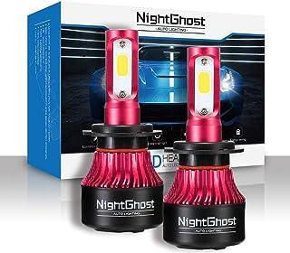 Nightghost 2019 - Juego de bombillas LED para faros delanteros H7 72 W 9000 LM/set 6500 K blanco frío