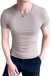 Suncolor8 Mens V-Neck Slim Fit Short Sleeve Summer Casual Fashion Henley Shirts