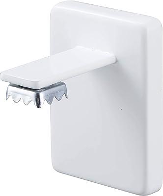 山崎実業(Yamazaki) 吸盤ソープホルダー ホワイト 約W5XD5.5XH7cm タワー 浮かせて収納 石鹸置き 4871
