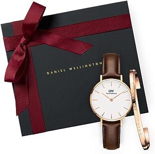 Daniel Wellington Gift Set Classic Petite Bristol White Watch Rose Gold 28mm+ Bracelet RG Small