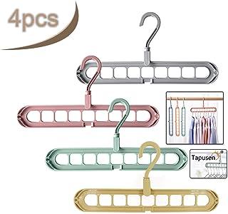 Tapusen Magic Hanger - Perchas Que ahorran Espacio Percha en Cascada Percha Plegable Multifuncional Armario Ahorro de Espacio Diseño Innovador Percha para Organizador (4PCS)
