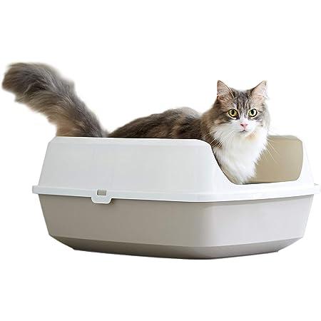 【OFT】 Deep Pan ジャンボ グレー 猫用トイレ ディープパン 本体 飛散防止 ゆったり広々サイズ 丸洗い可能 BPAフリー サイズ(約)幅43×奥57×高24.5cm 【地面から入り口までの高さ】15.5cm