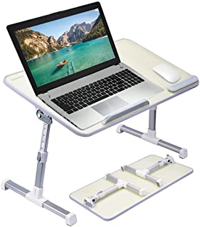 [Large Size] Neetto TB101L Adjustable Laptop Bed Table, Portable Standing Desk, Foldable Sofa Breakfast Tray, Notebook Sta...