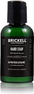 Brickell Men's Hand Soap For Men, Natural and Organic, Moisturizing Liquid Hand Soap, Cedarwood & Rain