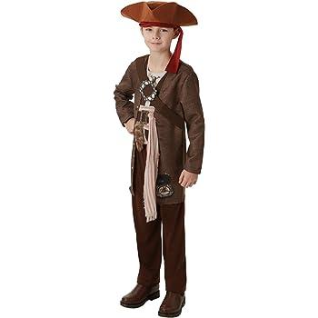 Piratas del Caribe - Disfraz de pirata Jack Sparrow para niño ...
