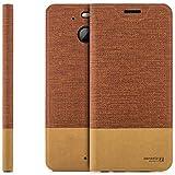 zanasta Designs Tasche HTC 10 EVO Hülle Flip Hülle Slim Schutzhülle Handytasche mit Kartenfach, Standfunktion | Rotbraun