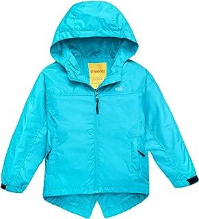Girl's Waterproof Lightweight Jacket Hooded Windbreaker
