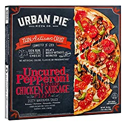 Urban Pie Uncured Pepperoni & Chicken Sausage, 20.45 oz (frozen)