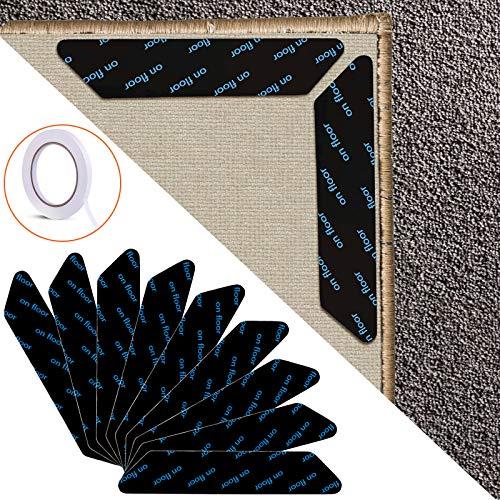 EAONE 24 piezas, cinta de agarre anti rizos para alfombra, reutilizable, antideslizante,...