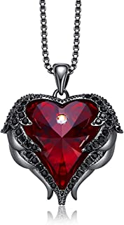 Mothers Day Necklace Love Heart Pendant Necklaces for Women Made with Swarovski Crystals
