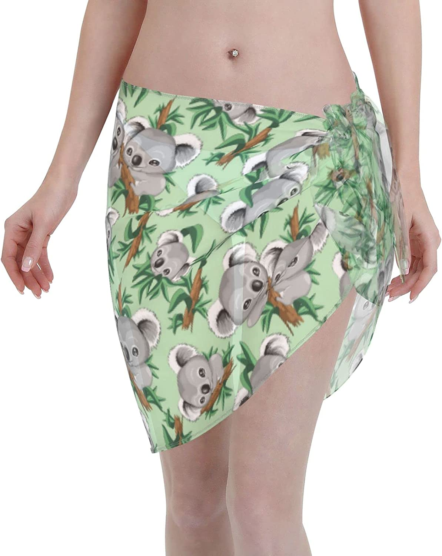 Husky, Bulldog, schnuzer, Spaniel Women Swimsuit Cover Ups Fashion Sarong Beach Wrap Short Skirt Chiffon Scarf