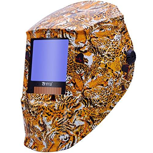 "Antra AH7-X30P Digital Auto Darkening Welding Helmet, Size 3.86X3.5"", Shade 4/5-9/9-13 Great for TIG, MIG/MAG, MMA, Plasma, Grinding, Solar-Lithium Dual Power, 6+1 Extra lens covers"