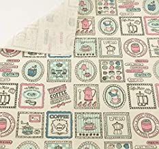 Tela para costura o tapizar diseño vintage coffee de textura de calidad resistente y diseño ideal NOVEDAD al corte por metros. 1 unidad es 0.50 m. x 1.45 m . 2 unidades 1 m x 1.45 m...podras confeccionar cortinas, colchas, cojines, atrezzo caravanas, descalzadoras, renovar tus sillas.. de CHIPYHOME