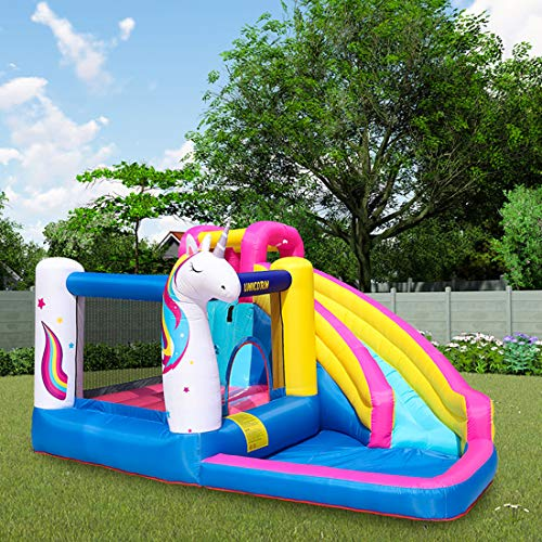 Lanafall Inflatable Bounce House Bouncer Castle Water Slide With Blower Giant Outdoor Inflatable Toys for Kids