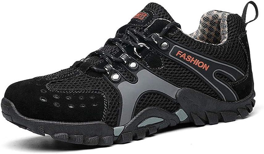 Henxizucun Chaussures de Trekking pour Hommes Sports de Plein air Marche Chaussures de randonnée légères et Basses Trail Running Camping Alpinisme Baskets de Sport