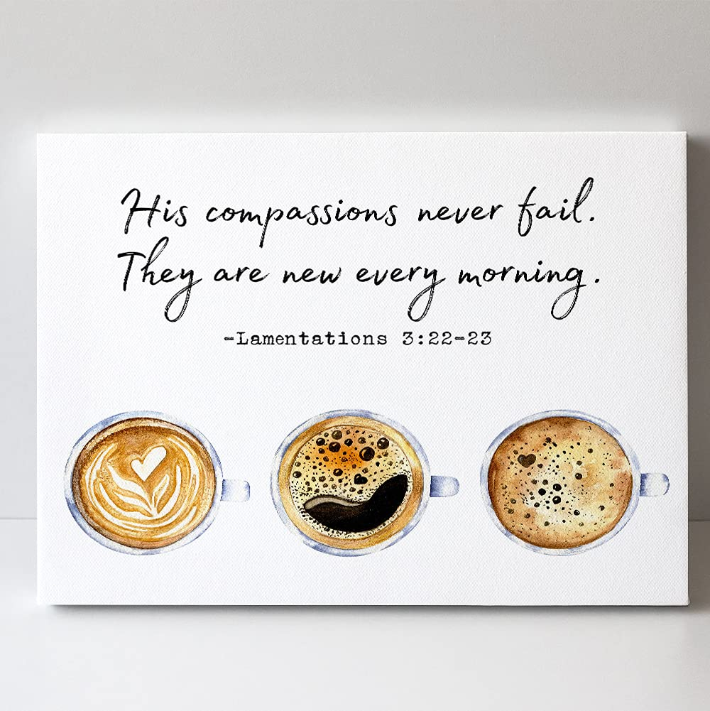 Lamentations 3:22 - Ranking TOP10 His Compassions Fail New product Ca Bible Never Quotes