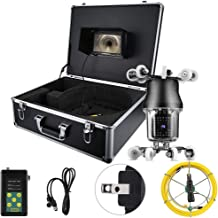 LCD Endoscopic Camera 7in 50M 360° Sewer Industrial Endoscopic IP68 38LED Inspection Drain Pipe Borescope Camera 100-240V US