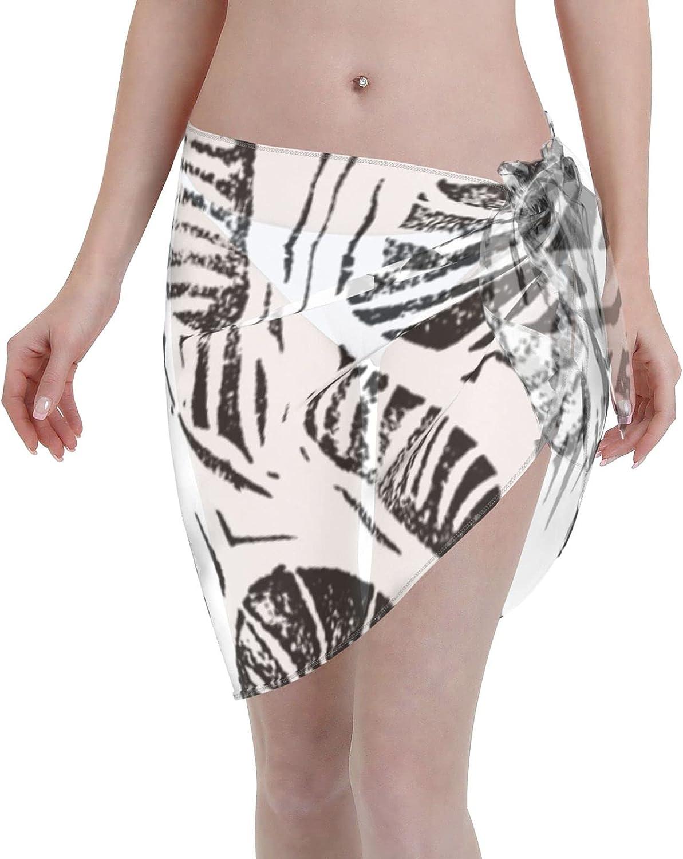 2053 pants Jungle - Tropical Leaves Women Chiffon Beach Cover ups Beach Swimsuit Wrap Skirt wrap Bathing Suits for Women