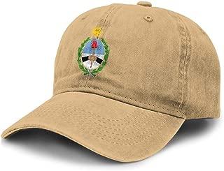 Men Women Argentina National Emblem Denim Cap Adjustable Strapback Hat Novelty Hip Hop Hat for Golfers