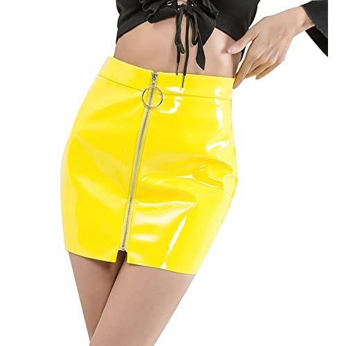 263fe587 Indistyle Women's Classic High Waist Faux Leather Bodycon Slim Mini Pencil  Skirt with Zipper
