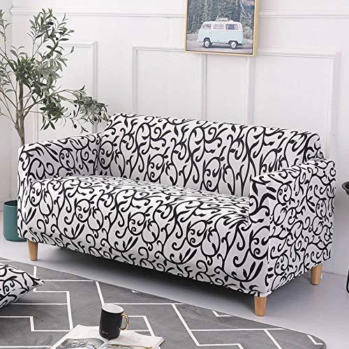 ASCV Funda de sofá Asiento elástico Fundas de sofá sillón Muebles Fundas sofá Toalla 1/2/3/4 plazas A6 4 plazas