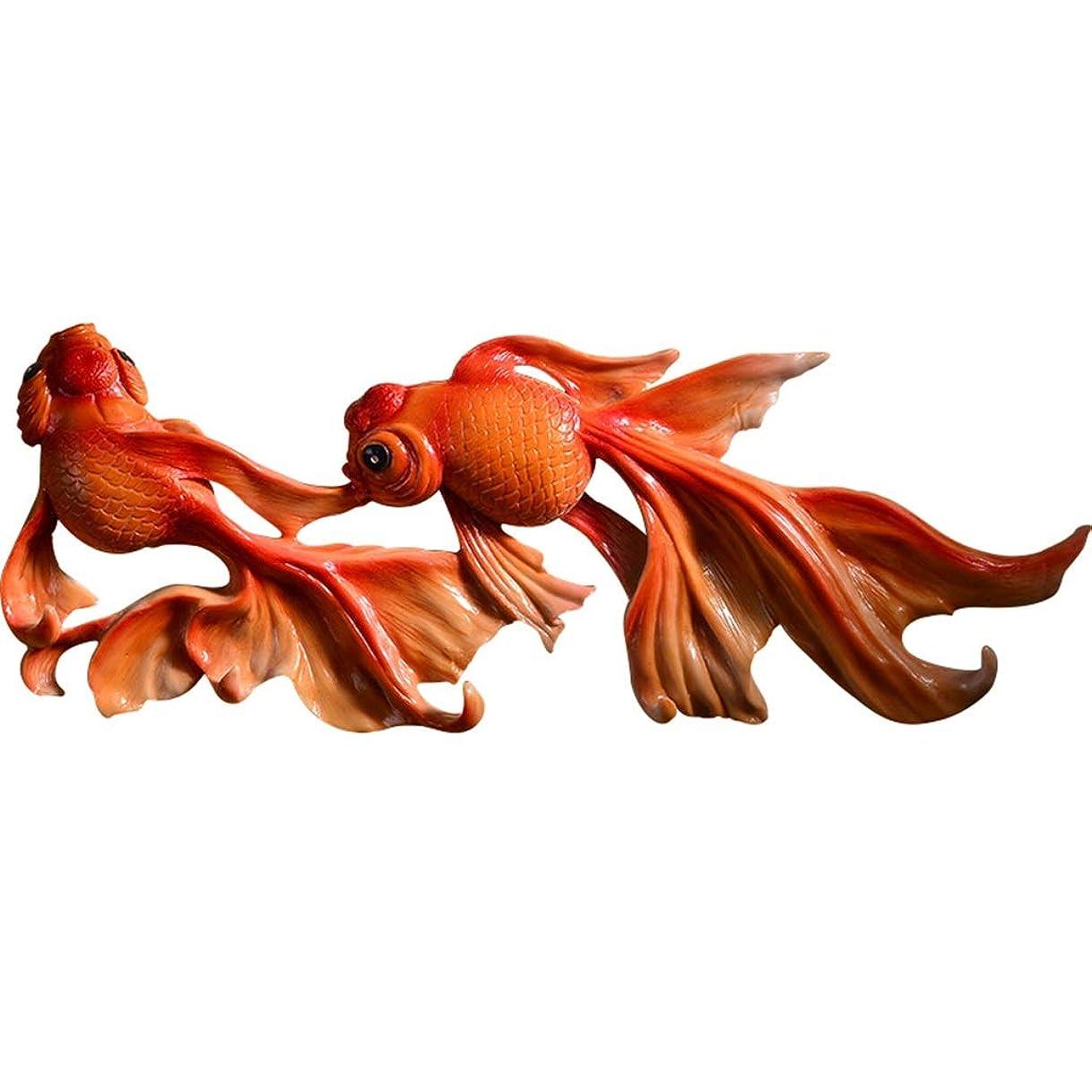 吐き出す粉砕するシアーハンガーラック 金魚フッククリエイティブ壁掛けコートラック寝室ラックバスタオル掛けタオル掛けドア裏 (Color : Red, Size : 53cm*5cm*22cm)
