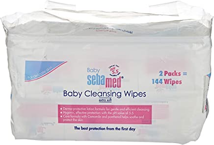 Sebamed Baby Wet Wipes, 72 x 2 Duo Pack