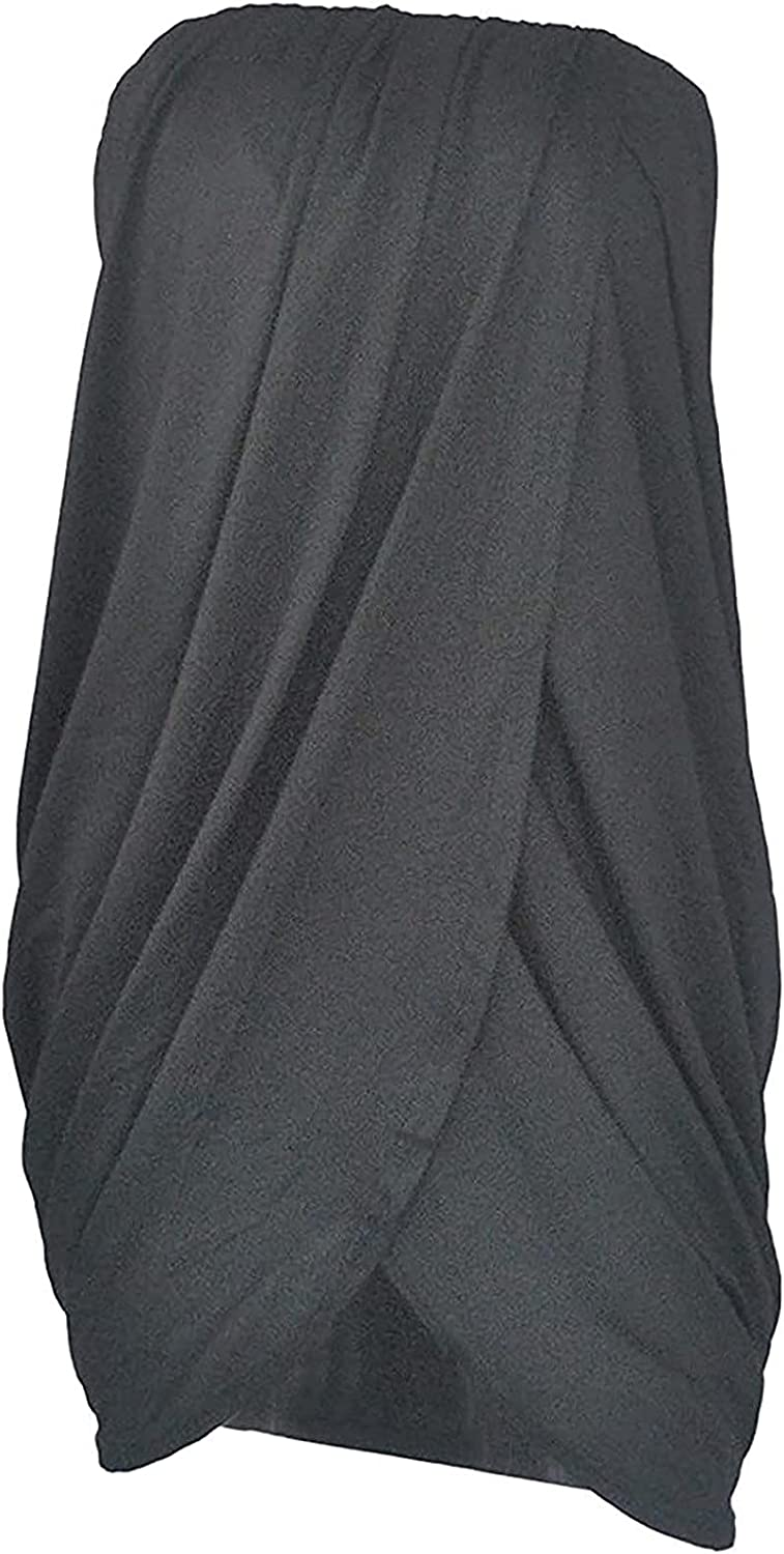 Women's Sexy Bodycon Dress Solid Tube Top Off Shoulder Wave Pleated Hip Dress