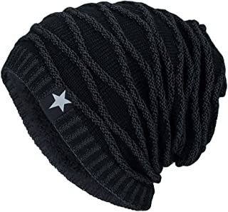 URIBAKE Unisex Knitting Baggy Cap Hedging Head Hat Beanie Cap Warm Outdoor Fashion Hat Star Pattern