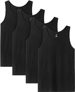 LAPASA Débardeur Homme, 100% Coton Premium, Lot de 4, T-Shirt sans Manches, Maillot de sous-vêtement, Doux M36