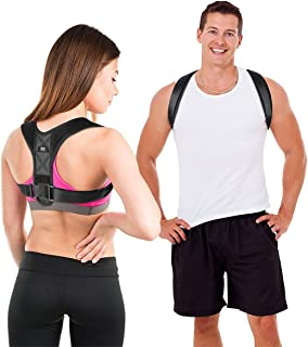 LIFEWAY Posture Corrector for Men & Women - Upper Back Brace for Spine & Clavicle Support - Relives Pain in Neck & Shoulde...
