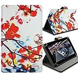 Seluxion-Funda universal con tapa y soporte, diseño de flores para tablet Asus ZenPad S 8,0 8 FE380CG Z580C Fonepad