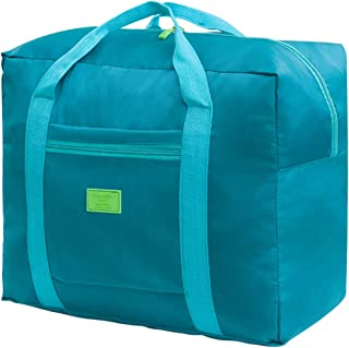 Travel Foldable Duffel Bag for Women, Men& Kids - Waterproof Lightweight Carry On Luggage, Weekender Storage Tote Large Folding Duffle Bag for Sports, Tourist, Gym