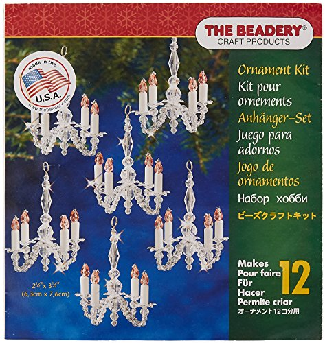 Beadery Holiday Beaded Ornament Kit Christmas Chandeliers Makes 12