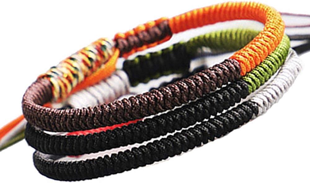 QCQHDU Handmade Rope Tibetan Lucky Friendship Bracelets Protecti
