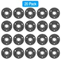 GOOVI Floor Flange, 1/2 inches Malleable Cast Iron Pipe Flange, Industrial Pipe Flanges for Threaded Black Pipes and Fittings, Build Vintage DIY Shelving Steampunk Furniture, 20 Pack.