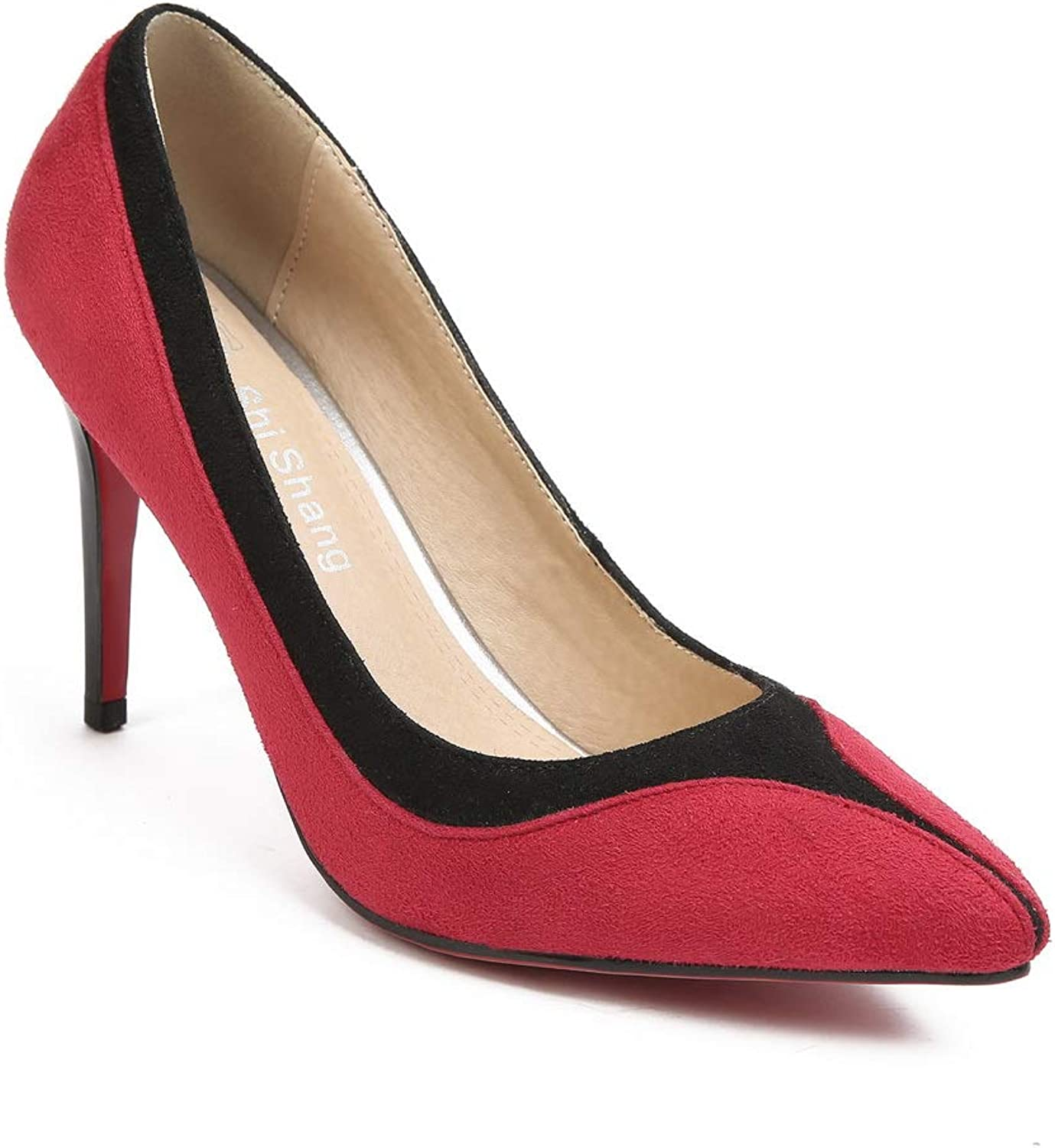 1TO9 Womens Assorted colors Nubuck Leather Pumps shoes MMS06379