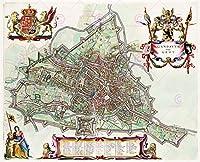 MAP 1649ブルーグント都市計画図複製ポスター印刷PAM0055