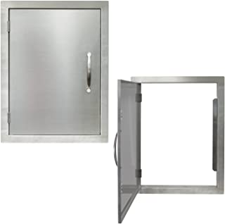 Houseables BBQ Access Door, Stainless Steel, Vertical, Single, 17 x 24 Inch, Commercial Grade, 0.5