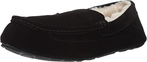 Amazon Essentials Men's Leather Moccasin Slipper
