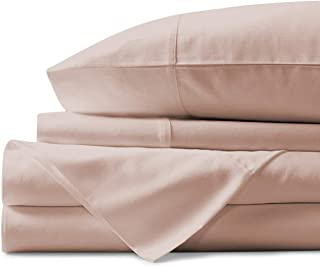 Mayfair Linen 100% Egyptian Cotton Sheets, Blush Queen Sheets Set, 800 Thread Count Long..