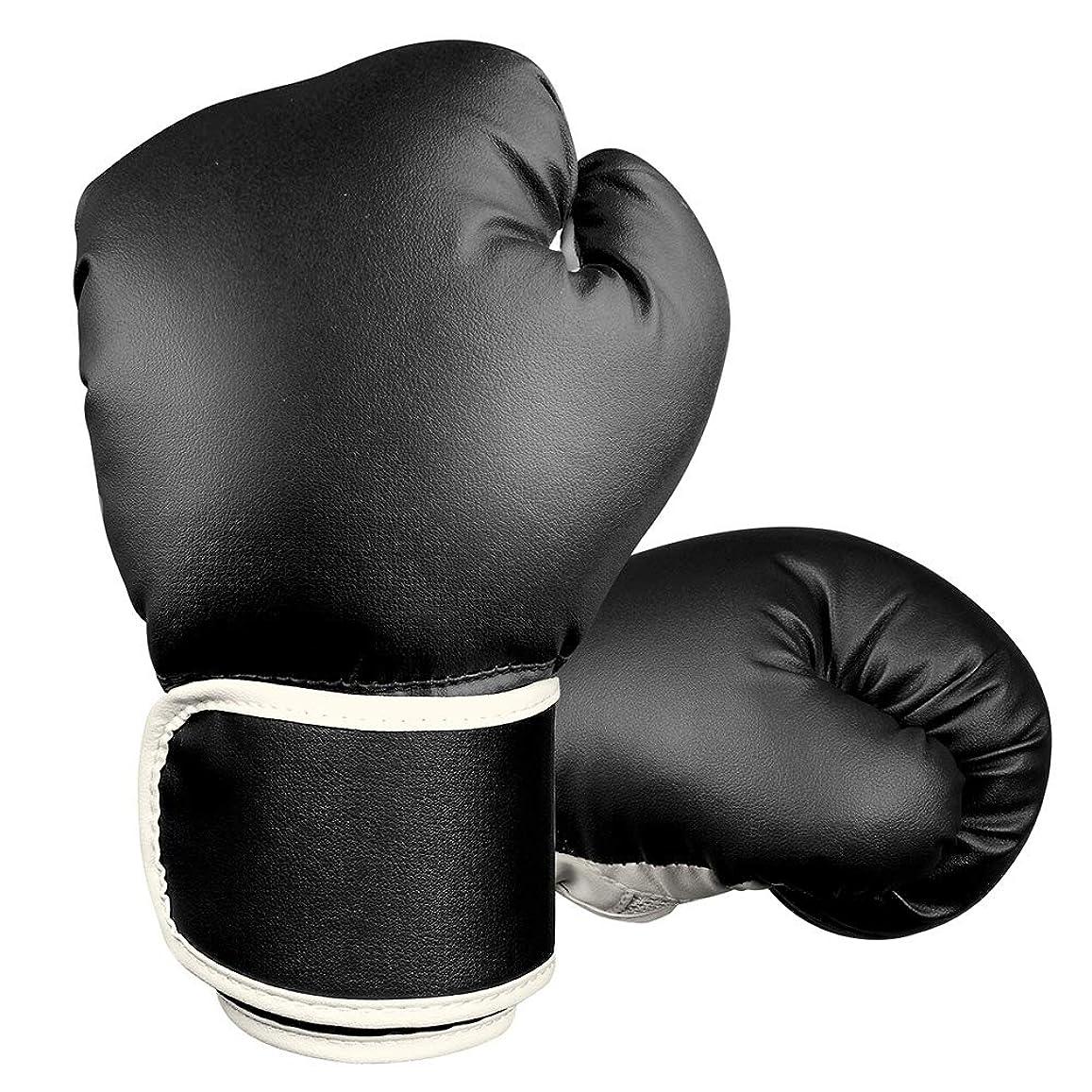 ビザ錫パトロンBojuキックボクシンググローブ パンチンググローブ 子供用 左右セット トレーニング 親子 格闘技 空手 ミット練習用 通気性 PUレザー